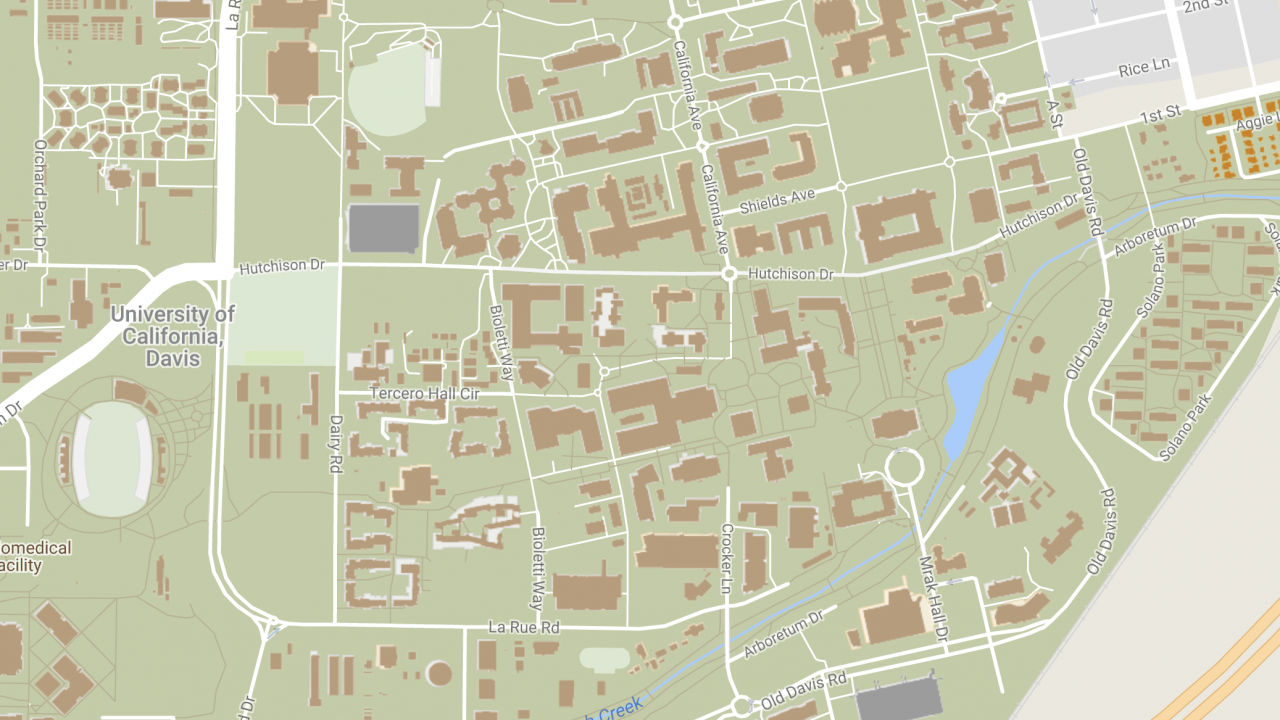 image of a map of UC Davis campus