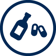 vector icon of drugs and alcohol
