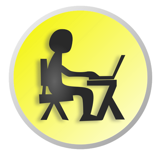 clipart of a man at a dsk