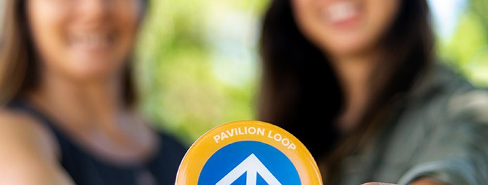 healthy uc davis team with markers for walking loop project