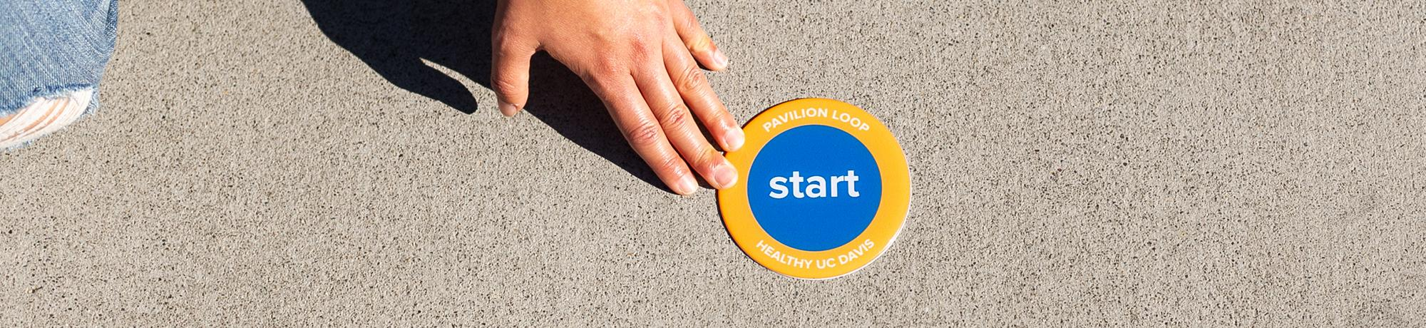 road markers for healthy uc davis walking loops